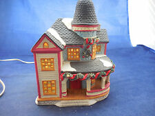 Noma 1996 lighted ceramic Christmas Victorian home