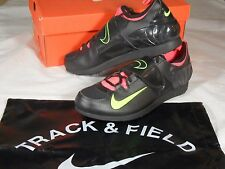 New Nike Zoom PV II 2 Pole Vault Track and Field Spikes Black Green Bag 317404