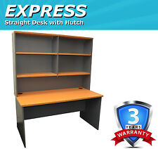 Express Straight Office Desk with Hutch