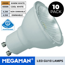 10 X MEGAMAN LED BULBS GU10 3.6W OR 5W DIMMABLE OR NON DIMMABLE WARM / COOL 240V