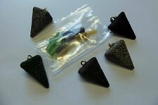 5 X 1.5 oz.QUALITY LEAD WEIGHTS SINKERS- PLUS FREE RIGS Sea/Carp fishing tackle