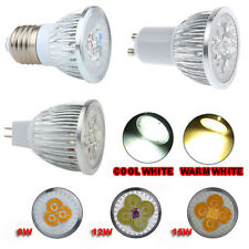 Epistar LED GU10 MR16 E27 Spot Bulb Down Lights Lamp 9/12/15 W COOL WARM WHITE