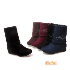 Women's Mid Heels Rhinestone Shoes Sexy Mid-Calf Casual Boots AU ALL Size TB1045