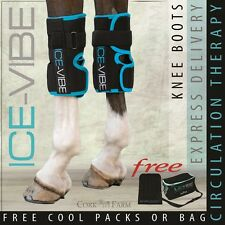 Horseware ICE VIBE KNEE BOOTS Cool Vibrating Circulation Therapy Wraps NEW STYL