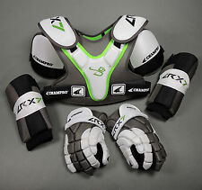 NEW Champro Sports LRX7 Lacrosse Pad Set w/ Lax Gloves, Should Pads and Arm Pads