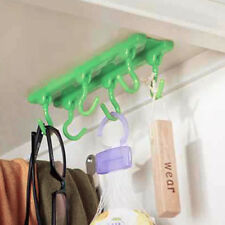 Hanging Holder Home Kitchen Cabinets Desk Ceiling Hook Plastic Utensils 2kg Load