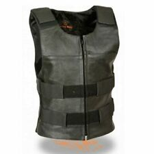 WOMENS BULLET PROOF STYLE GENUINE LEATHER MOTORCYCLE VEST - SA78