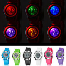 Young Mens Womens Childs OHSEN Digital Colorful LED Rubber Quartz Wrist Watch