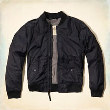 NEW Hollister By Abercrombie Mens Dudes Harbor Beach Jacket Navy- M