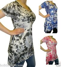NEW LADIES WOMANS SEXY SUMMER HOLIDAY TIE DYE TOP PLUS SIZE 12-26 UK HANKY