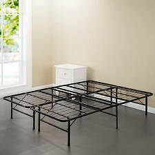 Foundation Steel Bed Frame Black Portable Storage Sturdy King Queen Twin Full