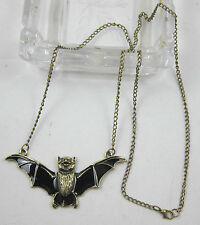 new fashion auspicious Occident Style retro bronze alloy bat charms necklace