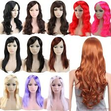 Sexy Lady Long Straight Curly Wavy Full Wig Cosplay Party Fancy Hot Sale Red JO