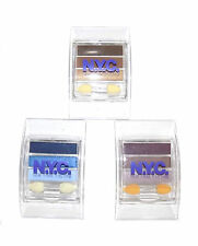 NYC by Coty Eyeshadow Trio Palette ~ Pick A Shade ~ Brown Blue Navy Purple Pink