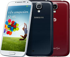 Samsung Galaxy S4 IV I337 16GB AT&T Unlocked GSM Smartphone White Black Red (B)