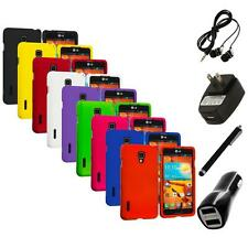 For LG Optimus F7 Hard Rubberized Matte Snap-On Case Skin Cover 4X Accessories