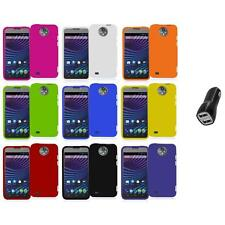 For ZTE Sprint Vital N9810 Hard Snap-On Rubberized Case Cover+2.1A Charger
