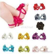 Children Girl Infant Baby Flower Feet Toddler Sandals Barefoot Ring Shoes Blooms