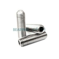 GRUB SCREWS (Socket Set) STAINLESS STEEL A2 Allen key drive M2,M3,M4,M5,M6,M8