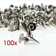 100pcs 10mm Punk Rivets Metal Bullet Studs Cone Spikes Spots Belt Leathercrafts