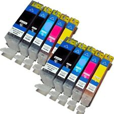 10 x Ink Cartridges Replacements For Canon BCI-3, BCI-6B, BCI-6C, BCI-6M, BCI-6Y