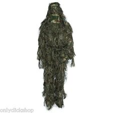 Hunting Woodland hair silk Camo Sniper Ghillie Suit Tactical Camouflage Clothing