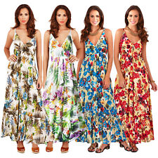 Pistachio Womens Strappy Plunge V Neck Floral Or Tropical Print New Maxi Dress