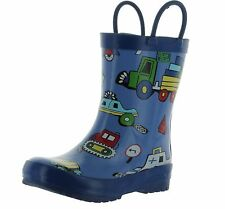 Pluie Pluie Boys Truck And Car Print Fashion Rainboots