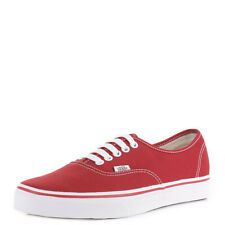 Womens Authentic Red Canvas Casual Skate Trainers Shoes Plimsolls Sz Size