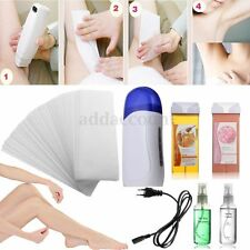 220V Roll On Depilatory Wax Cartridge Kit Heater Paper Waxing Strip Hair Removal