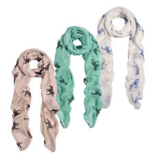 Premium Stallion Horses Animal Print Scarf - Different Colors Available