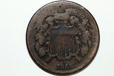 Free Shipping: One Better Date 1869 Two Cent Piece Grading Very Good (TWO247)