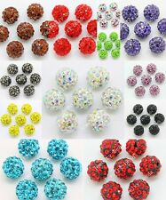 20pcs Czech Crystal Rhinestones Pave Clay Round Disco Ball Spacer Bead 10mm Lot