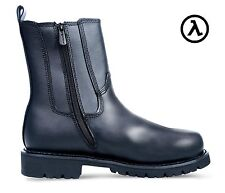 "RIDGE ALL LEATHER SIDE ZIPPER DUTY 8"" BOOTS MC206 * ALL SIZES - M/W 6-14"