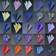 Men's Silk Satin Pocket Square Hankie Handkerchief Various Colours Free Shipping