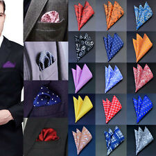F2 Mens Silk Pocket Square Hankie Handkerchief Various Colours Free Shipping