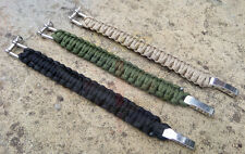 NEW PARACORD SURVIVAL BRACELET ADJUSTABLE,DESERT TAN,GREEN,BLACK-SAS