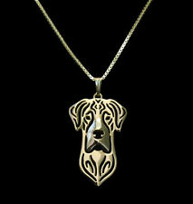 Great Dane Outline Pendant Necklace