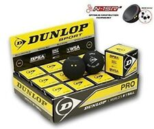 Dunlop Squash Balls Pro Double Dot Yellow The Official Ball of the WSF, PSA, WSA