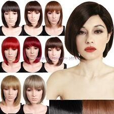 UK Ship BOB Short Full Wig Cosplay Party Daily Dress Black Brown Blonde Red Q17