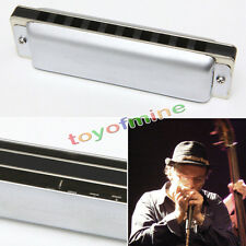 New Swan Harmonica 10 Holes 40 tones Key of C with Case Golden Metal Gift FC