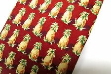 Tommy Bahama Silk Tie Red Pineapples NWT Novelty Necktie