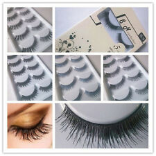 5Pairs Long Cross False Eyelashes Makeup Natural Fake Thick Eye Lashes 03z