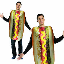 Adults Loaded Hot Dog Lightweight Novelty Food Party Fancy Dress Costume Outfit