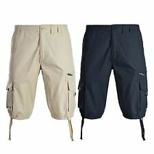 Mens Brave Soul Bastian Casual Cotton Combat Chino Shorts Cargo Pants Size S-XL