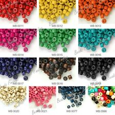 30g Approx 1000Pcs Donut Wood Spacer DIY Beads Center Drilled Dyed Fit Bracelet