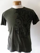 NEW Affliction Live Fast Magnum Mens Distressed T-Shirt S Olive MSRP$80