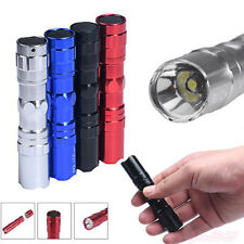 3W LED Super Bright Lamp With Clip Clamp AA Flashlight Focus Torch Light Outdoor