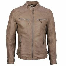 Gipsy Leather Jacket leather jacket Nougat brown Taupe Biker Look Brad SF LVW