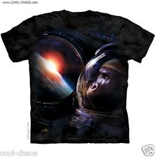 Earth Orbit Astronaut Gorilla T-Shirt-Charcoal Tie Dye Space Tee,Cool Lowbrow T!